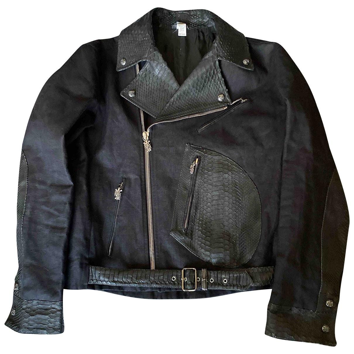 Gianni Versace \N Jacke in  Schwarz Leinen