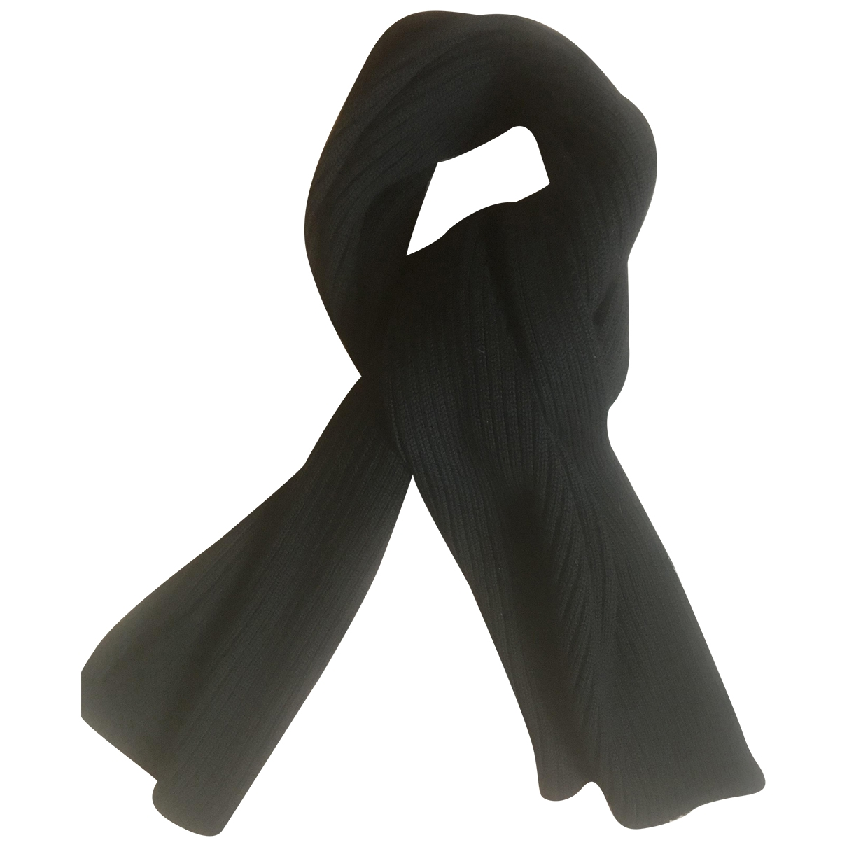 Prada \N Black Wool scarf & pocket squares for Men \N