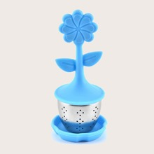 1pc Flower Shaped Silicone Tea Filter