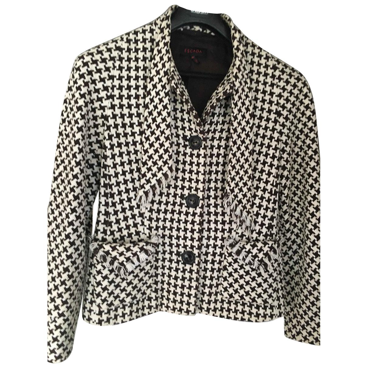 Escada N Brown Wool jacket for Women 40 FR