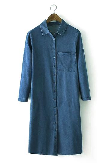 Yoins Denim Shirt Dress