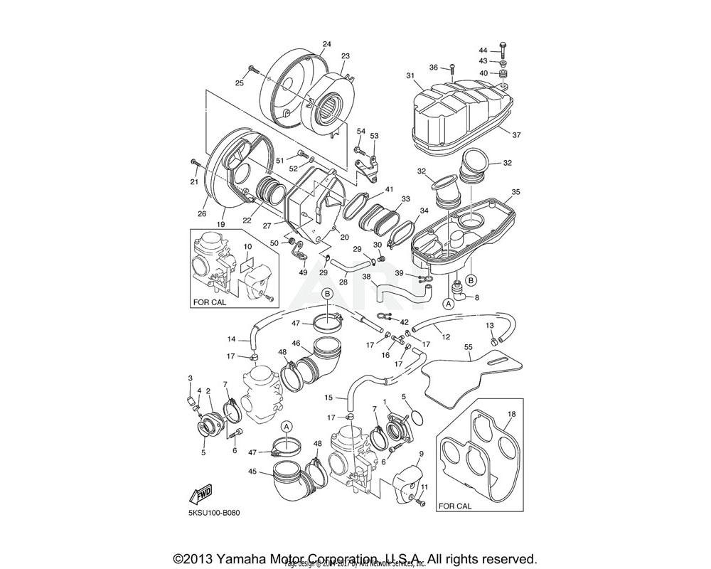Yamaha OEM 5EL-13596-00-00 JOINT, CARBURETOR 2