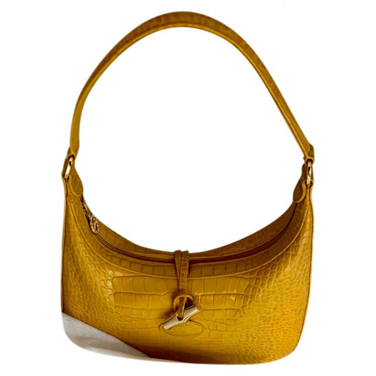Longchamp N Yellow Leather handbag for Women N