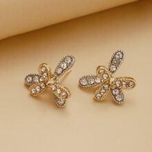Rhinestone Decor Stud Earrings