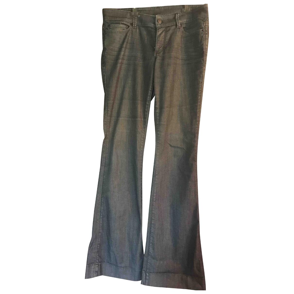 Ann Taylor \N Blue Cotton Trousers for Women 8 US
