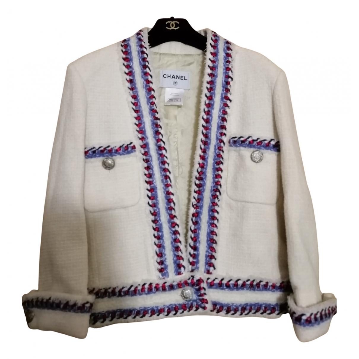 Chanel N Ecru Tweed jacket for Women 44 FR