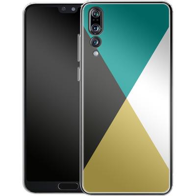Huawei P20 Pro Silikon Handyhuelle - Four Triangles von caseable Designs