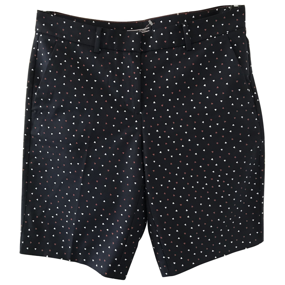 Tommy Hilfiger \N Navy Cotton - elasthane Shorts for Women 6 US