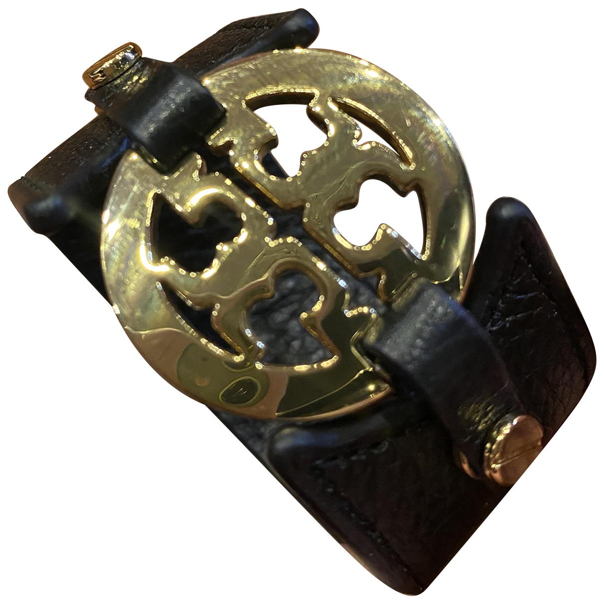 Tory Burch - Bracelet   pour femme en cuir - noir