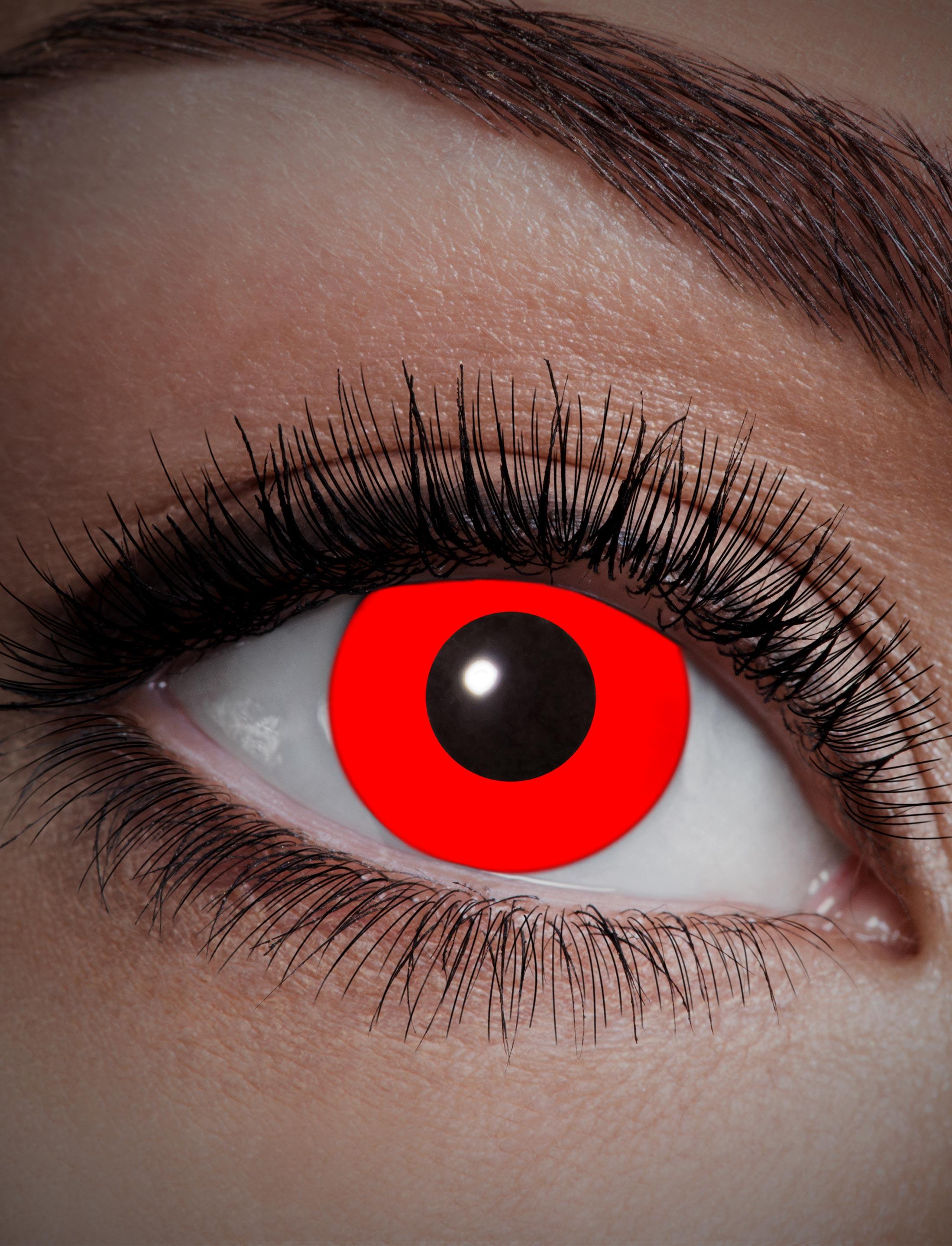 Kostuemzubehor Kontaktlinsen UV Flash Red Farbe: rot