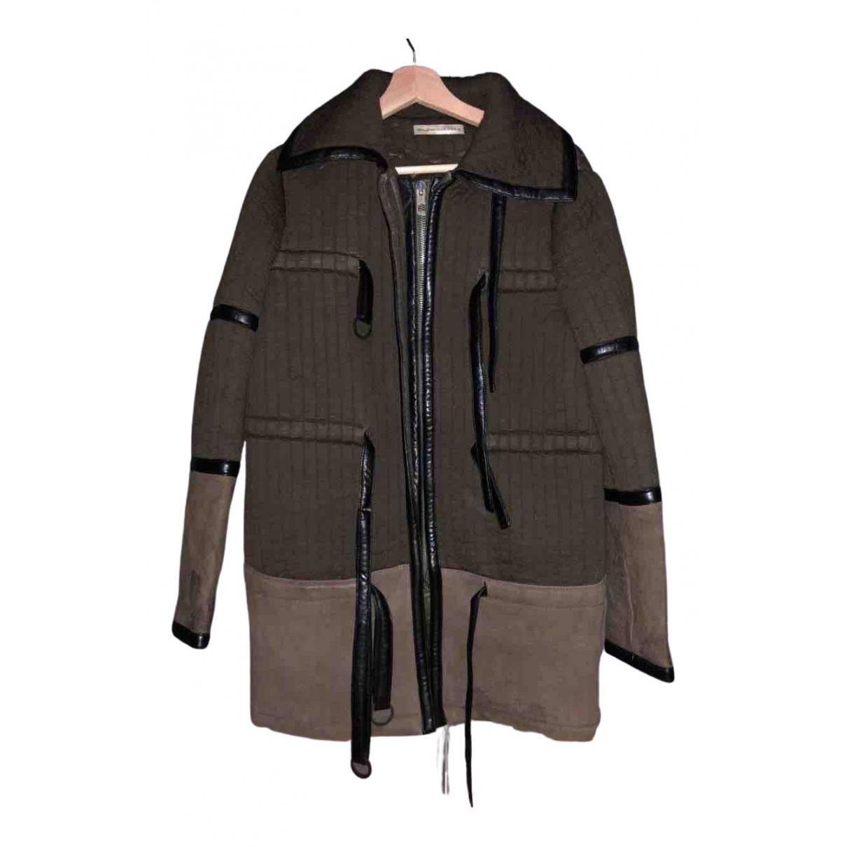 Balenciaga - Manteau   pour femme en coton - kaki