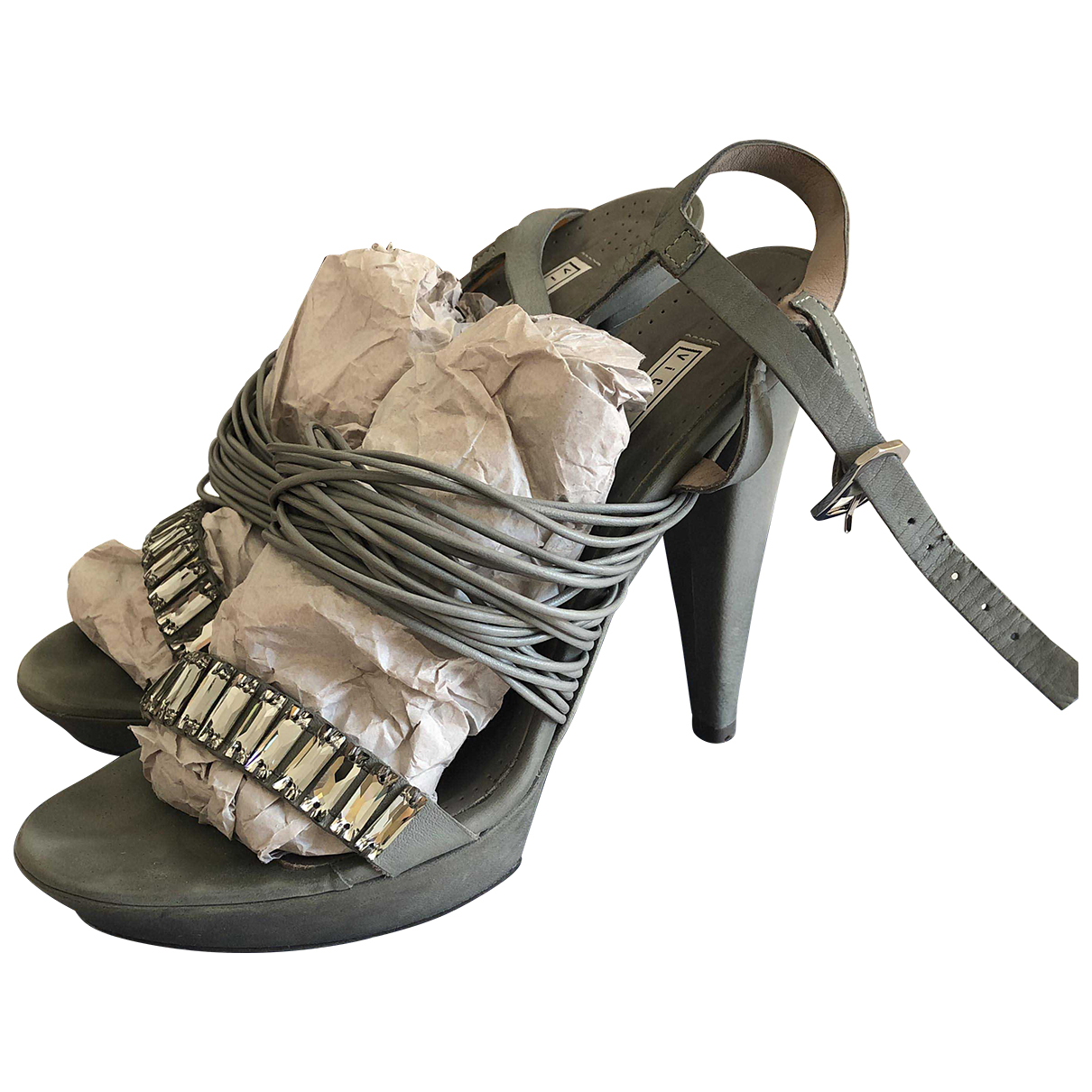 Vic Matié \N Grey Leather Sandals for Women 38.5 EU