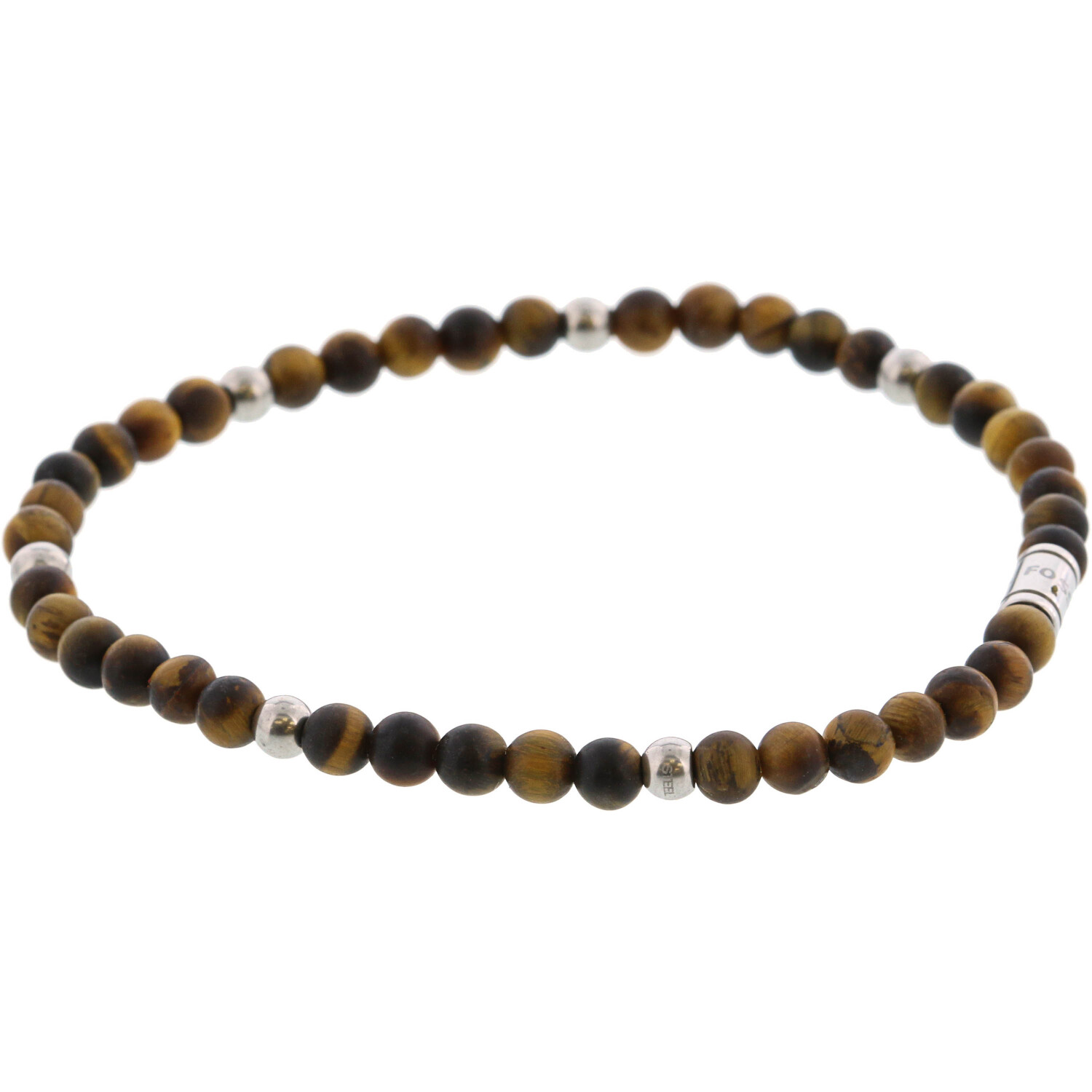 Fossil Men's Tiger's Eye Bracelet Stretch JF02939040