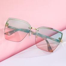 Randlose Sonnenbrille mit Verlaufslinsen