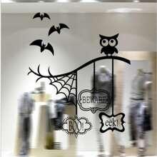 Halloween Wandaufkleber mit Karikatur Grafik