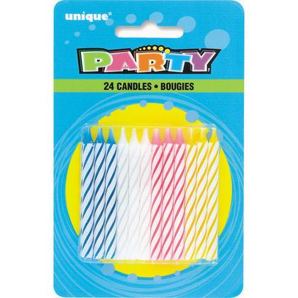 Multicolore Spirale Anniversaire Bougies 24Pcs