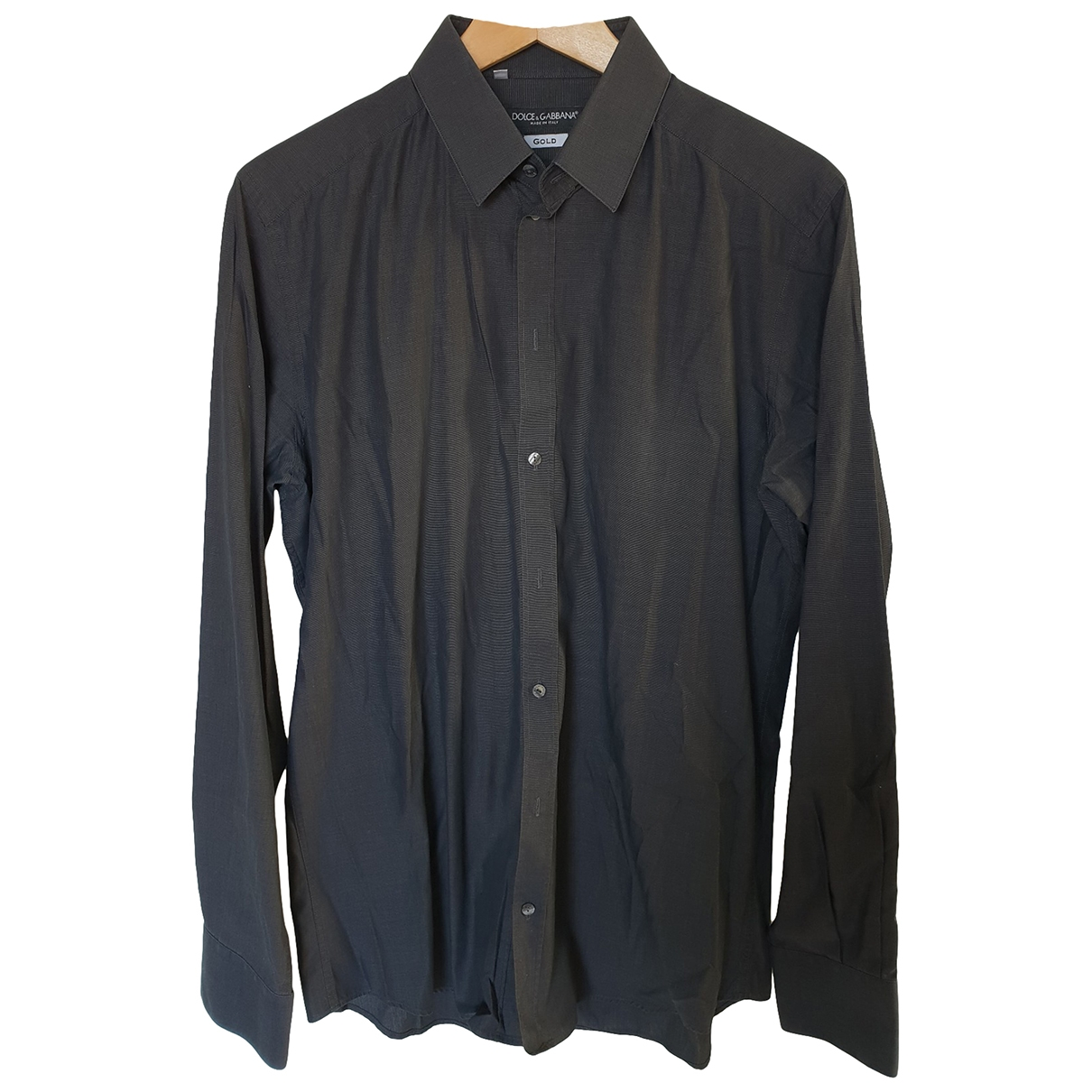 Dolce & Gabbana \N Black Cotton Shirts for Men L International