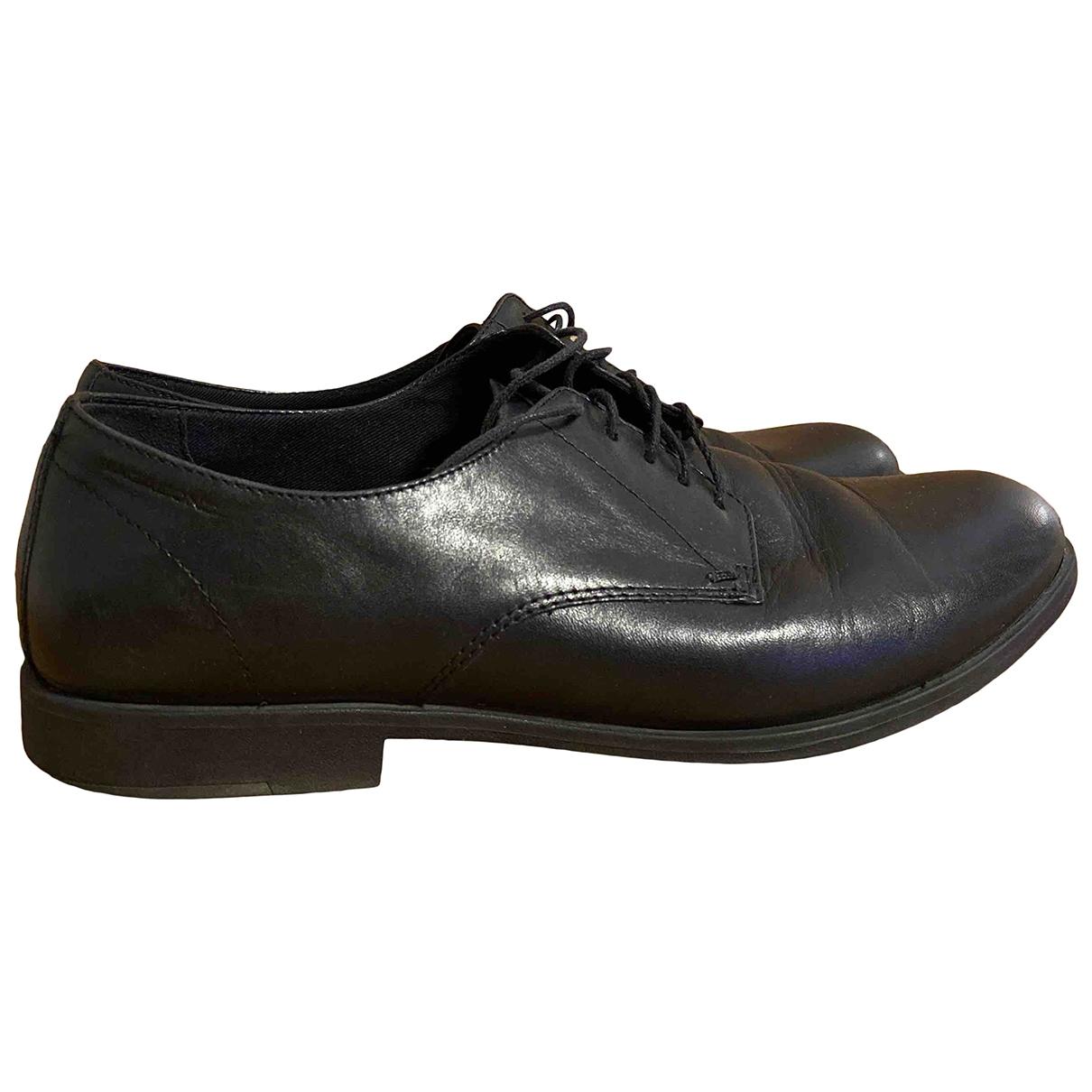 Vagabond \N Black Leather Lace ups for Women 40 EU