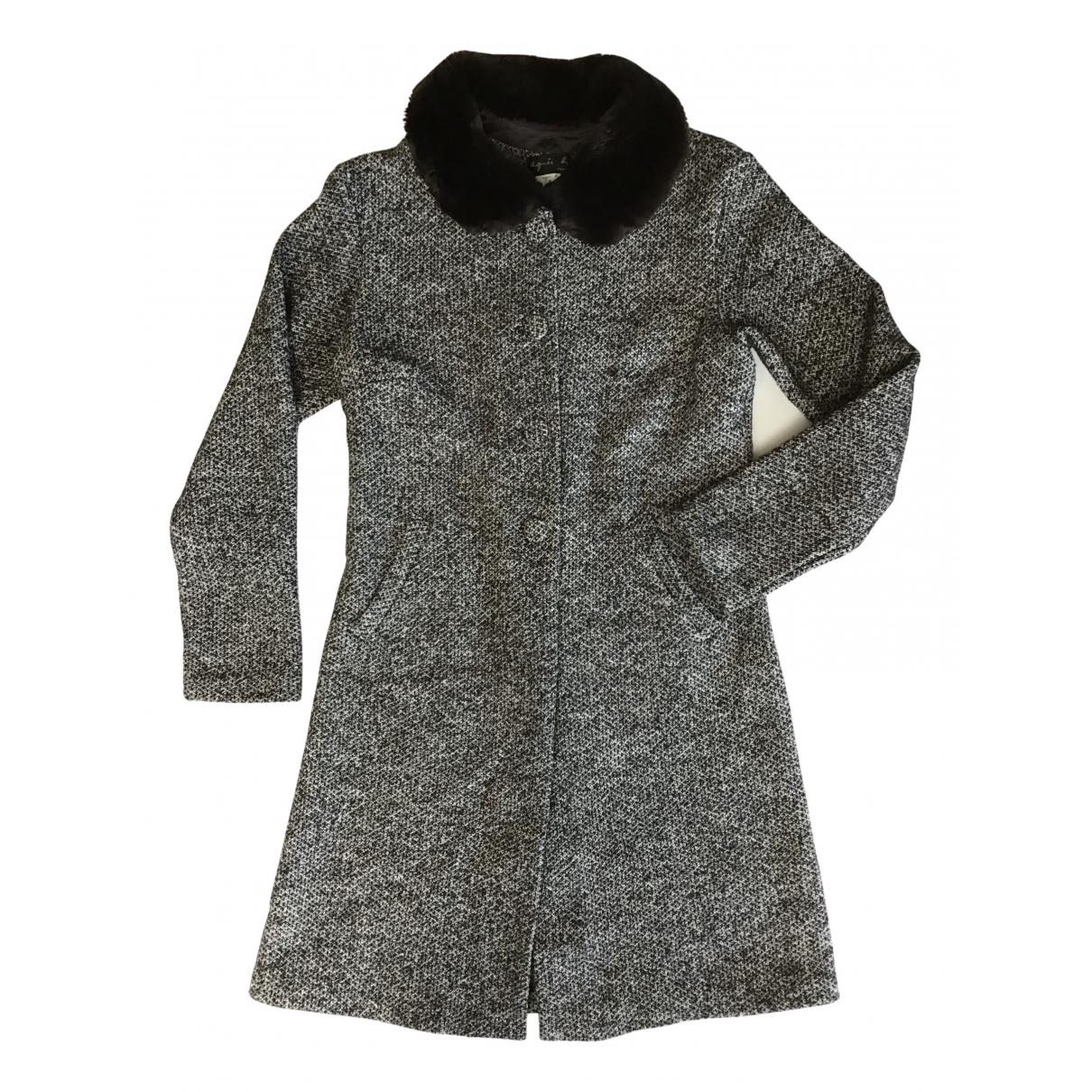 Agnes B. - Manteau   pour femme en coton - noir