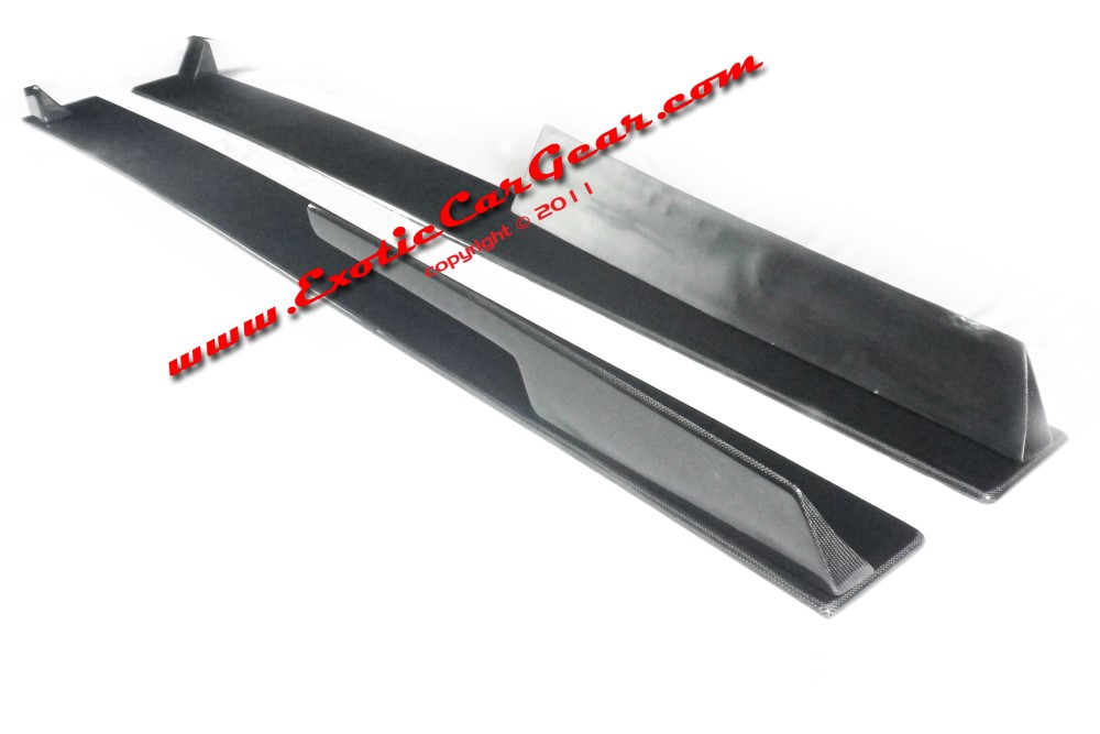 Exotic Car Gear ECG-AUD-R8GTSS Carbon Fiber 1-Pair GT Side Skirts Audi R8
