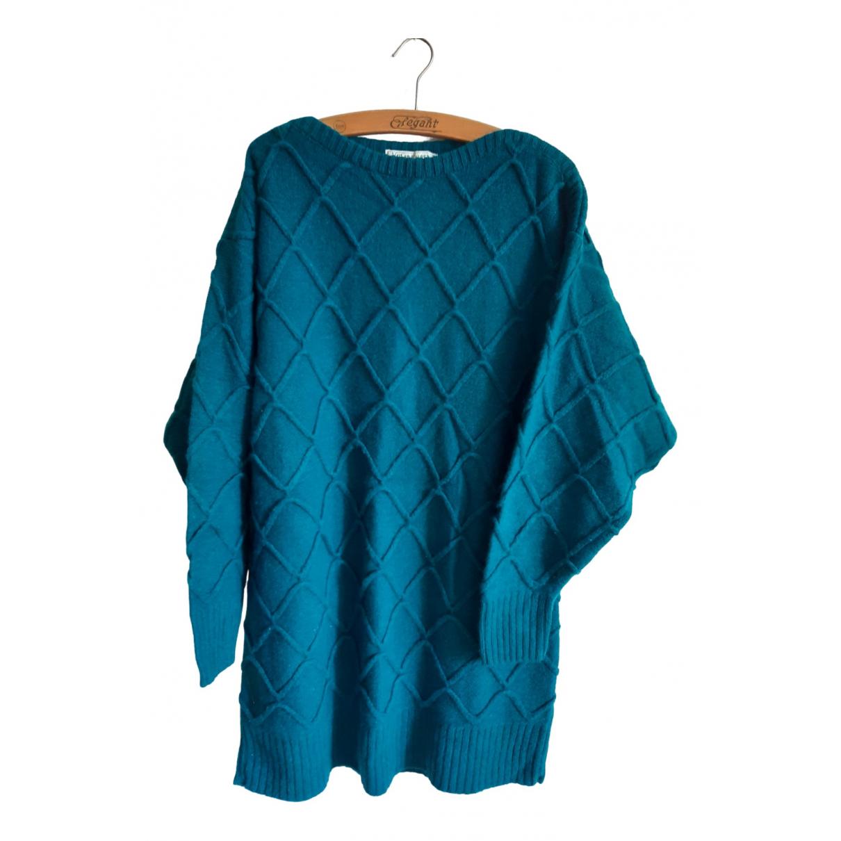Yves Saint Laurent - Pull   pour femme en laine - turquoise