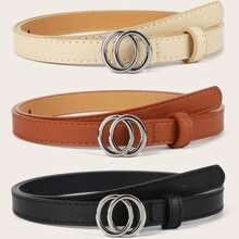 3pcs Double Ring Buckle Belt