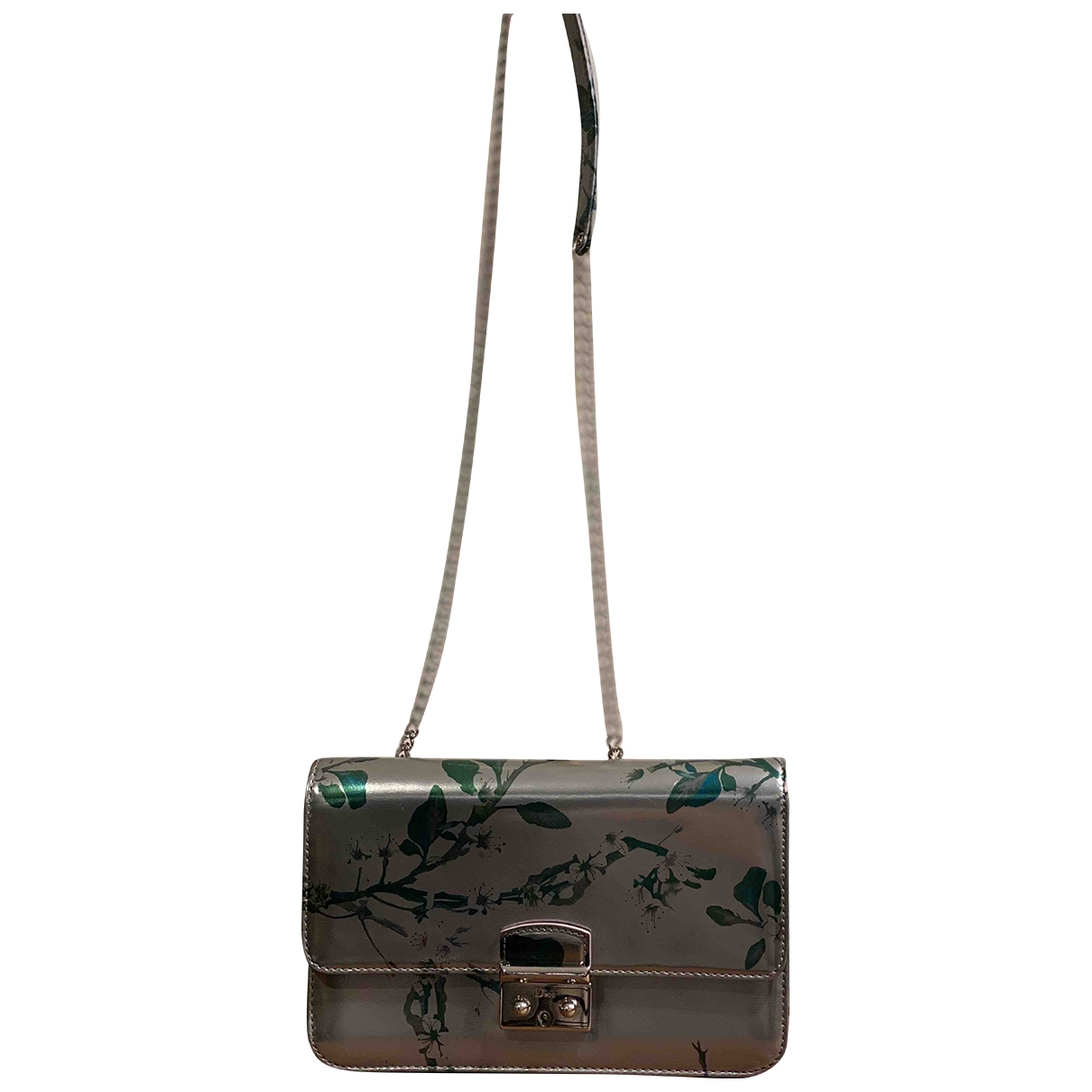 Dior Miss Dior Silver Patent leather handbag for Women \N
