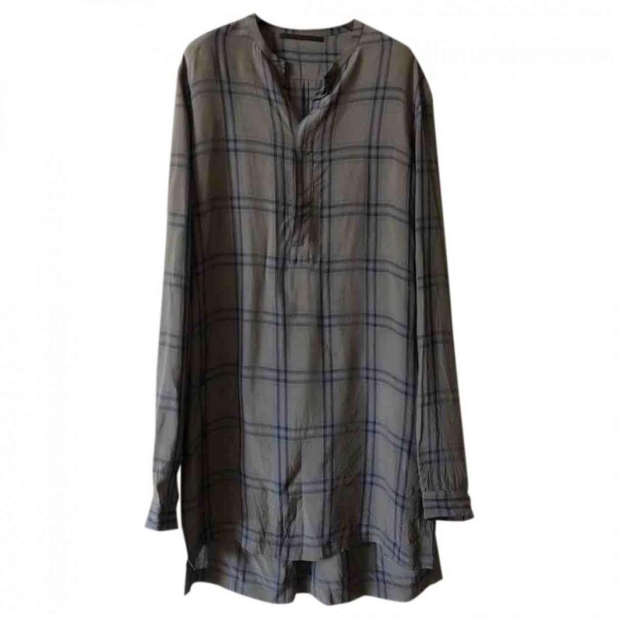 Haider Ackermann \N Khaki Silk Shirts for Men S International