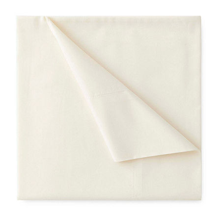 JCPenney Home 300tc 100% Cotton Percale Ultra Soft Solid and Print Sheet Sets, One Size , Beige