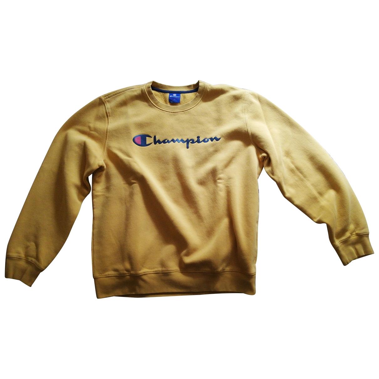 Champion - Pulls.Gilets.Sweats   pour homme en coton - jaune