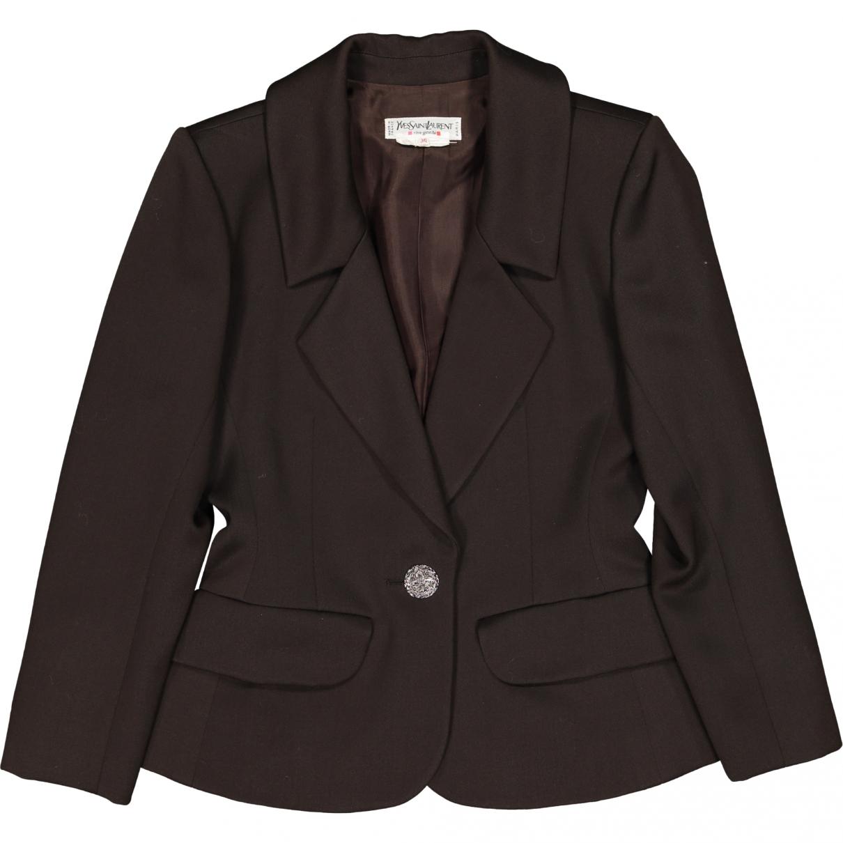 Yves Saint Laurent \N Brown Wool jacket for Women 36 FR