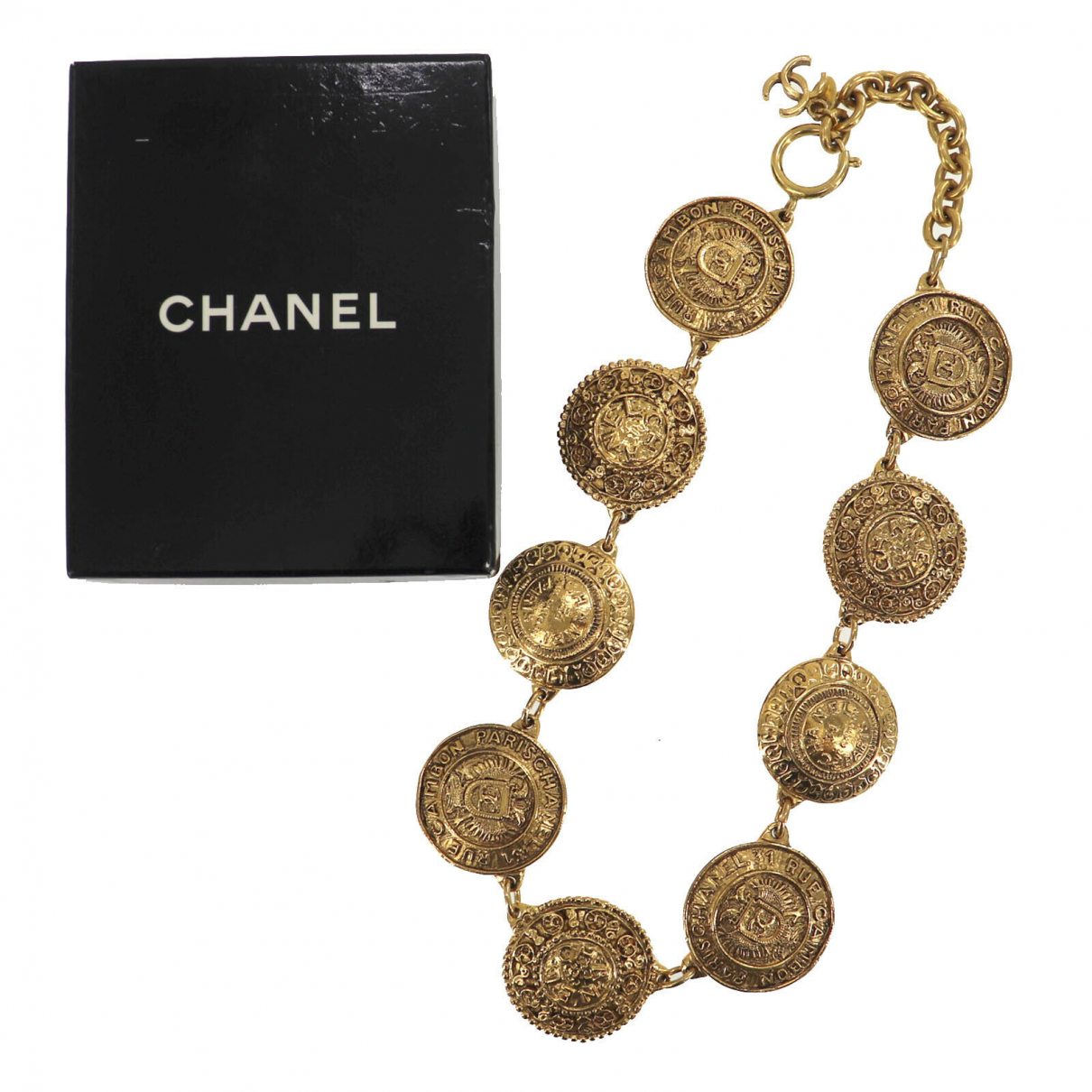 Chanel N Gold plated necklace for Women N