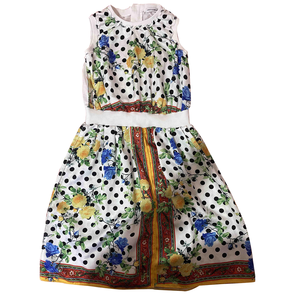 Dolce & Gabbana N White Silk dress for Kids 10 years - up to 142cm FR