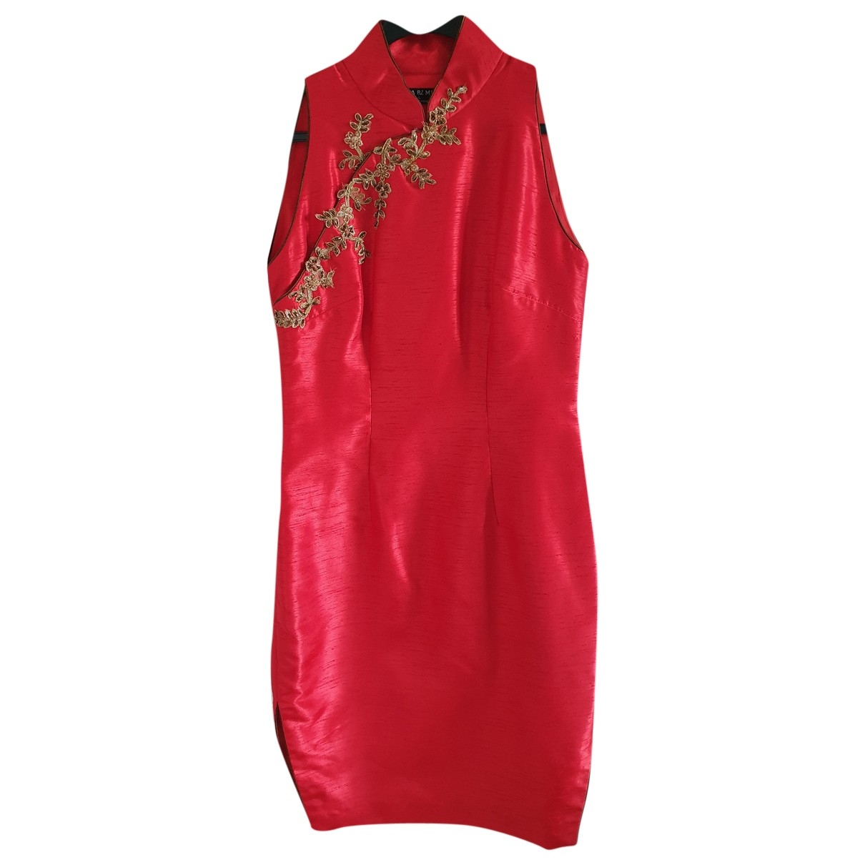 - Robe   pour femme en soie - rouge