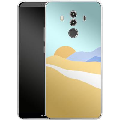 Huawei Mate 10 Pro Silikon Handyhuelle - Sunset Beach von Lucy Bohr