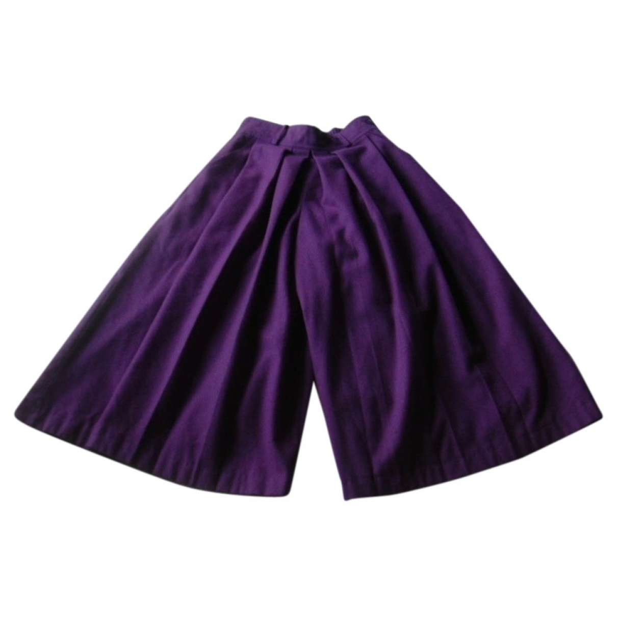 Non Signé / Unsigned \N Purple Wool Trousers for Women XS International