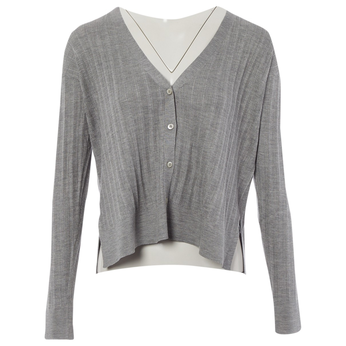 Prada \N Pullover in  Grau Seide