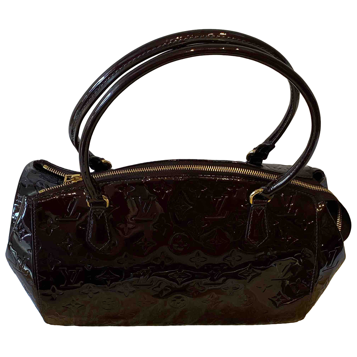 Louis Vuitton Sherwood Handtasche in  Bordeauxrot Leder