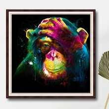 Gorilla Print DIY Diamond Painting Without Frame