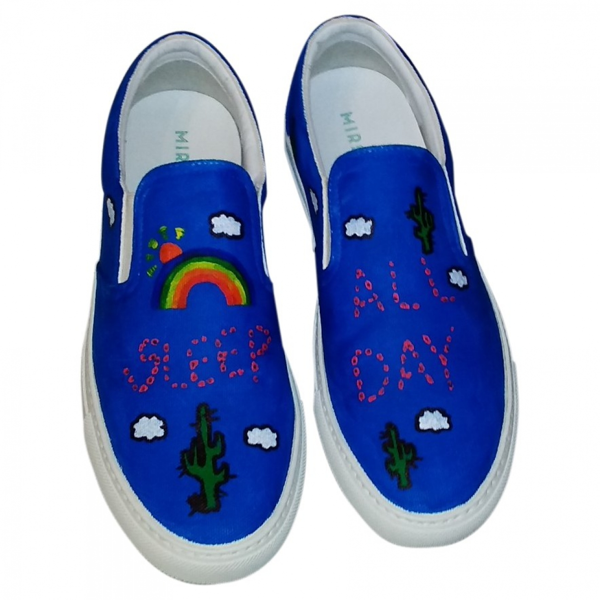 Mira Mikati \N Sneakers in  Blau Leinen
