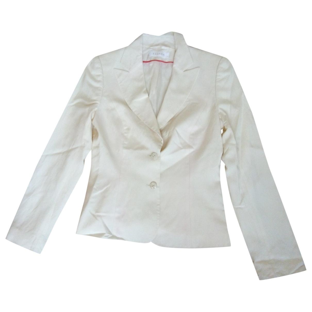 Escada \N Ecru Silk jacket for Women S International