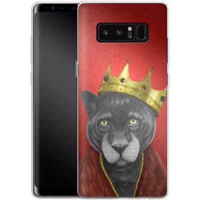Samsung Galaxy Note 8 Silikon Handyhuelle - The King Panther von Barruf