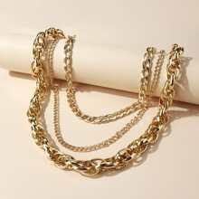 Collar a capas con cadena