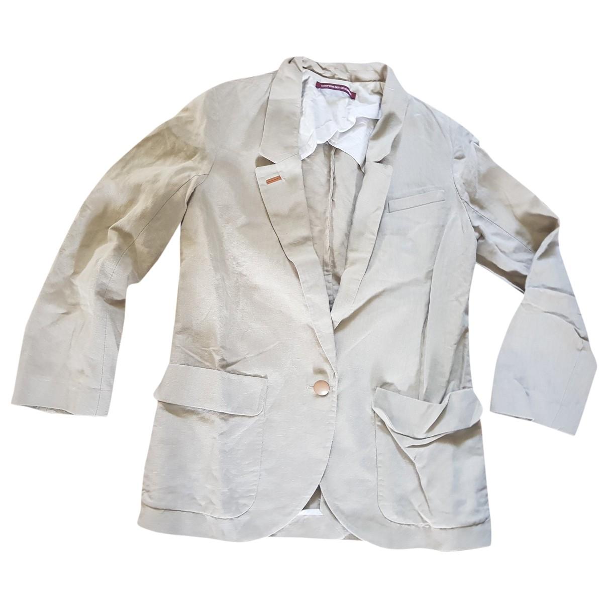 Comptoir Des Cotonniers - Veste   pour femme en lin - ecru