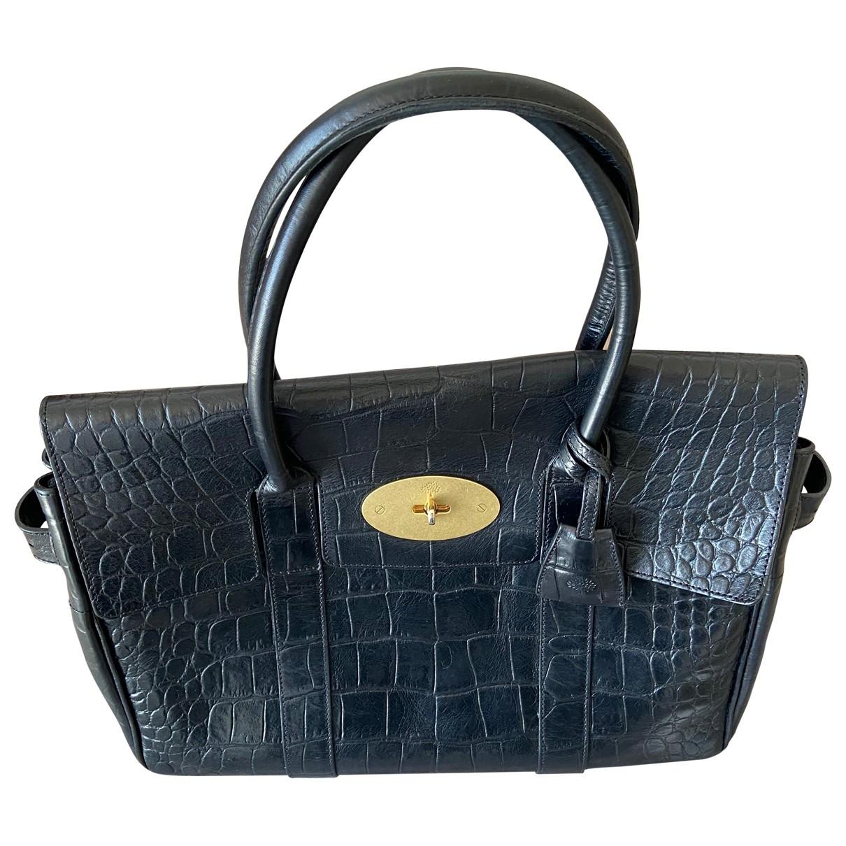 Mulberry Bayswater Handtasche in  Schwarz Leder