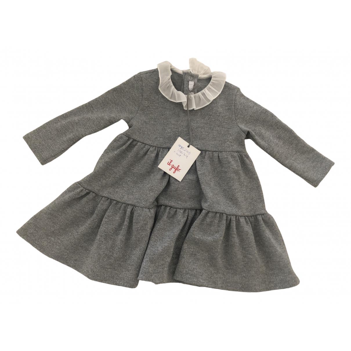 Il Gufo \N Kleid in  Grau Viskose