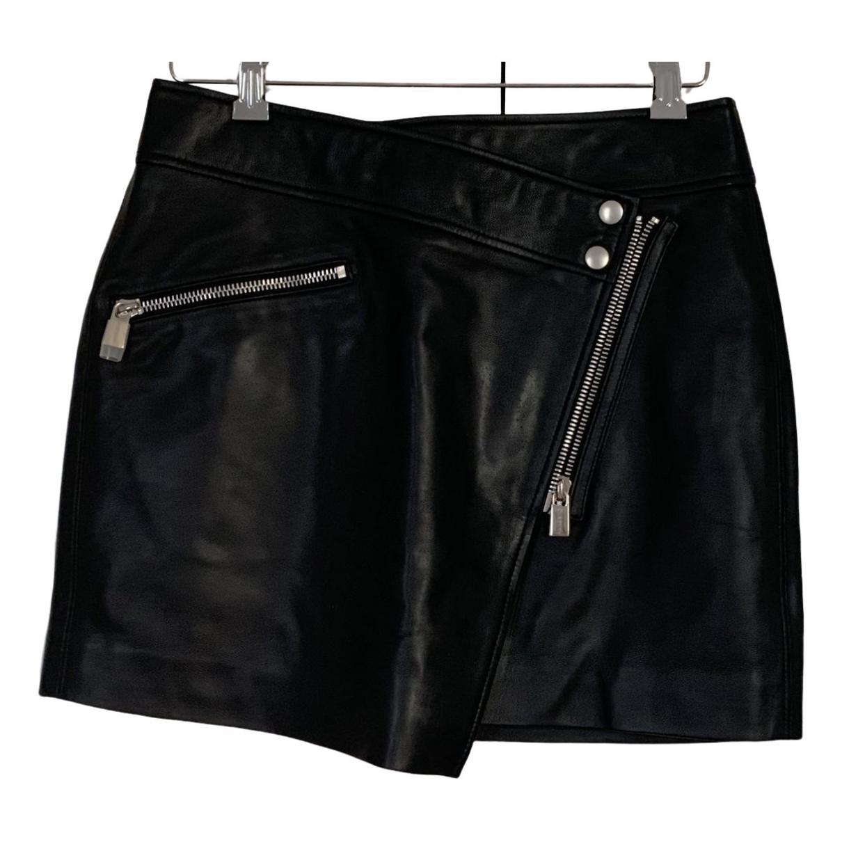 Anine Bing Spring Summer 2020 Black Leather skirt for Women S International