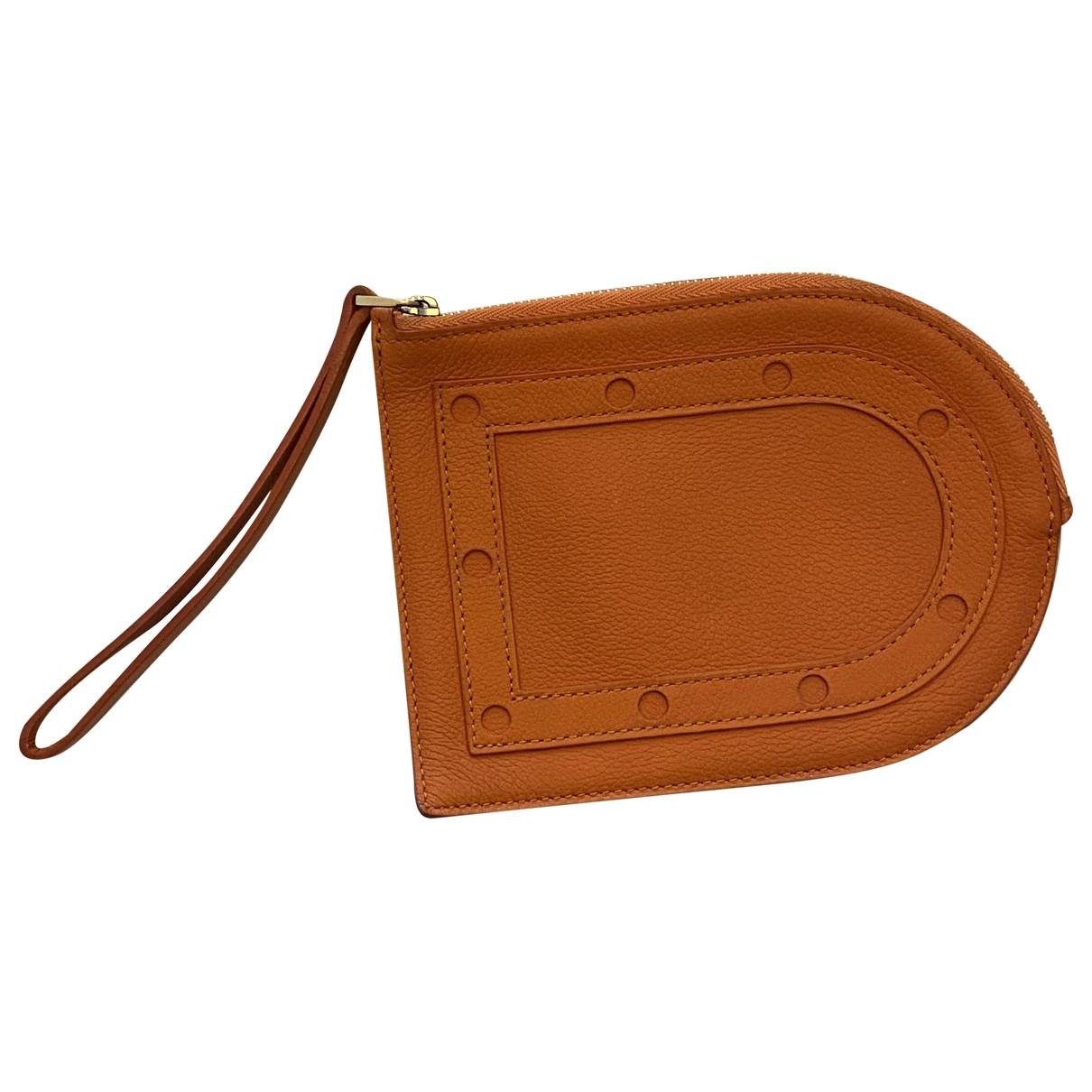 Delvaux - Petite maroquinerie   pour femme en cuir - orange