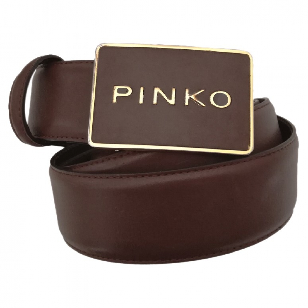 Pinko - Ceinture   pour femme en cuir - marron