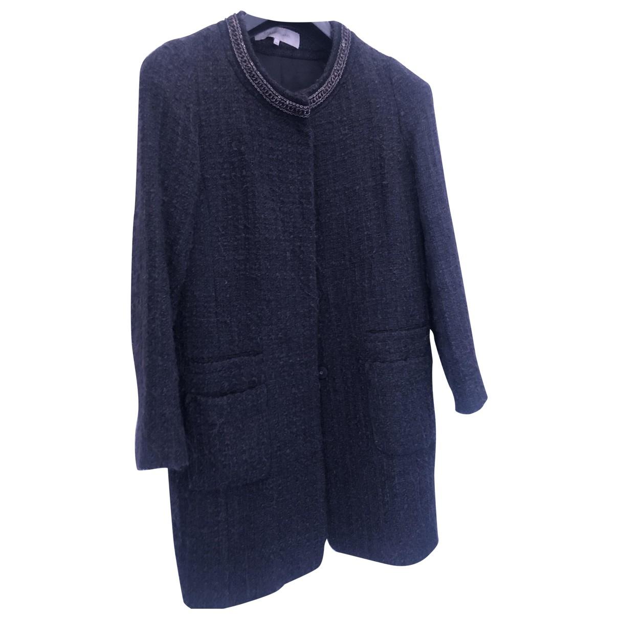 Gerard Darel - Manteau   pour femme en laine - noir
